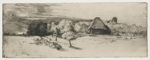 Landscape with a farm building and the 'house with the tower'. Date: c 1650. Object ID: RP-P-1962-84.