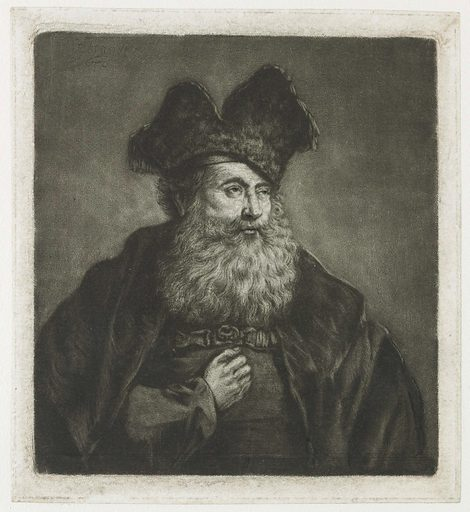 Old man with a divided fur cap. Date: c 1753 – c 1787. Object ID: RP-P-1961-1141.