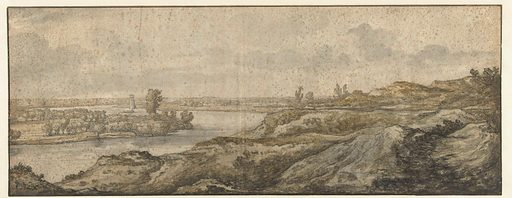 Landscape with a river. Date: 1630 – 1691. Object ID: RP-T-1953-3.