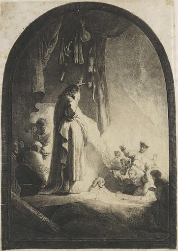 The raising of Lazarus: big picture. Date: 1630 – 1634. Object ID: RP-P-1987-178.