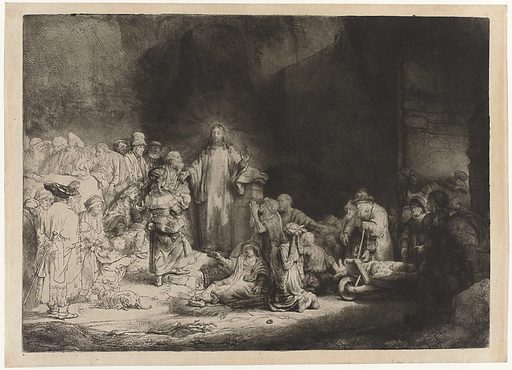 The Preaching Christ (The Hundred Guilder Print). Date: c 1646 – c 1650. Object ID: RP-P-1962-1.