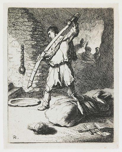 Beheading of John the Baptist. Origin: Netherlands. Date: 1625 – 1629. Object ID: RP-P-OB-173.