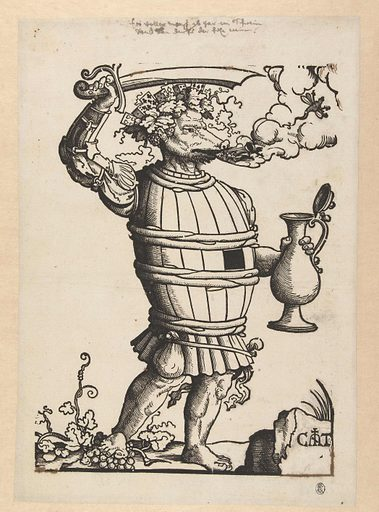 The Play and Wine Devil. Origin: Low Countries. Date: 1507 – 1553. Object ID: RP-P-1927-311.