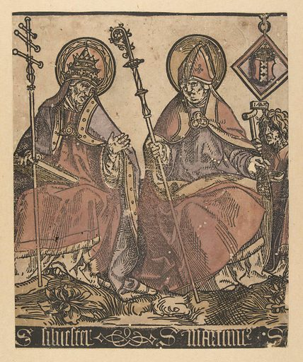 Saints Silvester and Martinus. Date: 1509 – 1513. Object ID: RP-P-1879-A-3461.