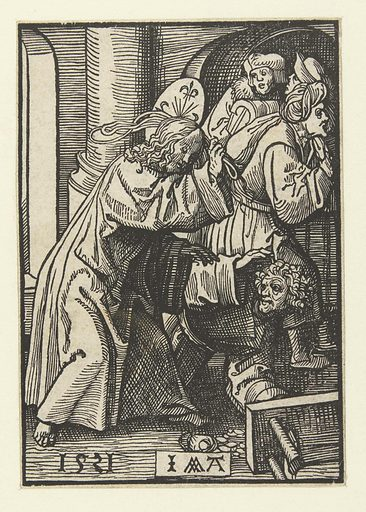 Expulsion of the merchants from the temple. Origin: Low Countries. Date: 1521. Object ID: RP-P-BI-6287.