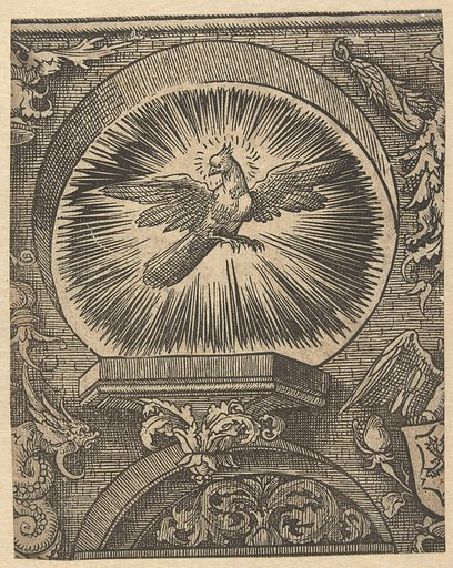 The Holy Spirit. Origin: Low Countries. Date: 1520. Object ID: RP-P-BI-6122G.