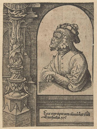 The prophet Ezekiel. Origin: Low Countries. Date: 1521 – 1525. Object ID: RP-P-BI-6323.