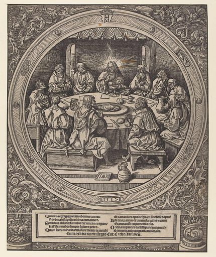 The last Supper. Origin: Low Countries. Date: 1517. Object ID: RP-P-BI-6258.