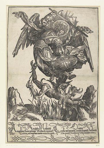 Saint Michael. Origin: Low Countries. Date: 1510. Object ID: RP-P-BI-6256.