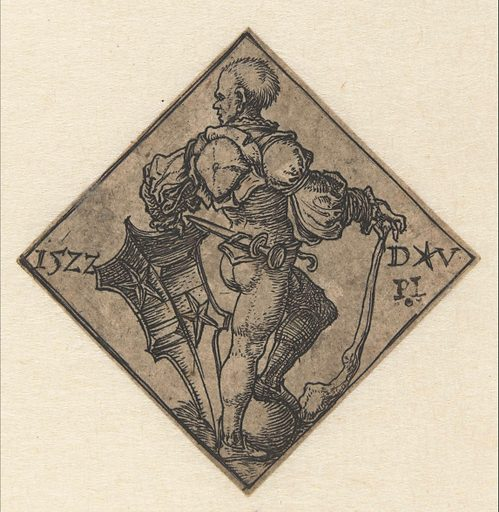 Soldier with coat of arms. Date: 1522. Object ID: RP-P-1986-1.
