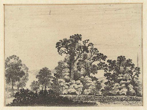 Landscape with closed gate. Origin: Netherlands. Date: 1610 – 1650. Object ID: RP-P-BI-4919.
