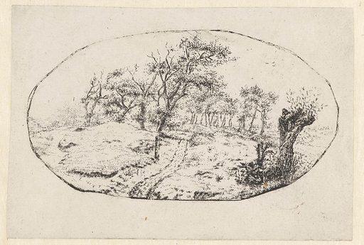 Landscape in Oval. Origin: Netherlands. Date: 1637 – 1684. Object ID: RP-P-BI-1054.