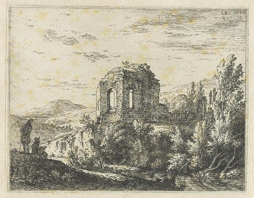 Ruins of a temple. Origin: The Hague. Date: 1658. Object ID: RP-P-H-S-37.