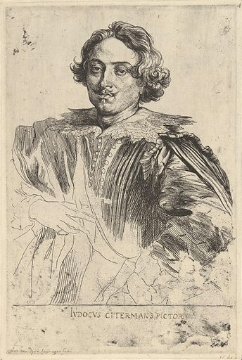 Portrait of Justus Sustermans. Origin: Low Countries. Date: 1627 – 1641. Object ID: RP-P-BI-7410.