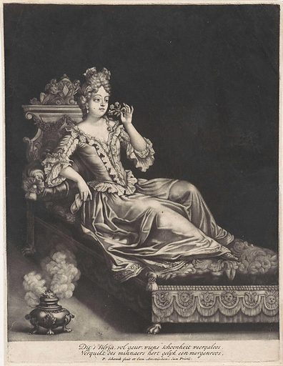 Young woman on a bed