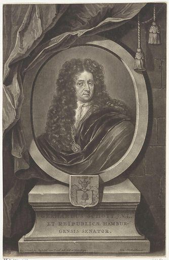 Portrait of Gerhard Schott. Origin: Amsterdam. Date: 1670 – 1713. Object ID: RP-P-1915-1414.
