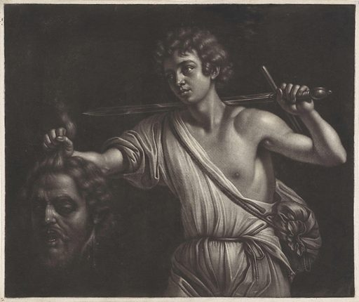 David with Goliath's head. Date: 1658 – 1677. Object ID: RP-P-H-1077.