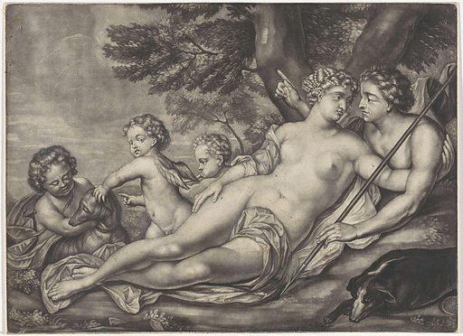Venus keeps Adonis from hunting. Origin: ? Amsterdam. Date: 1662 – 1726. Object ID: RP-P-1910-1636.