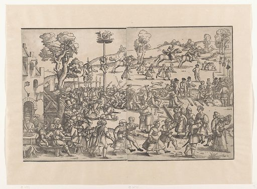 Village fair (right part). Date: in or after 1539. Object ID: RP-P-OB-21.573.