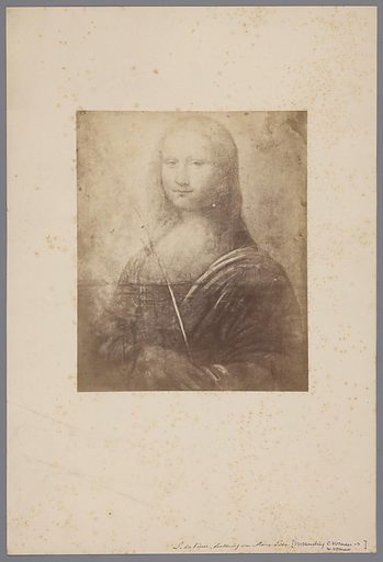Photo reproduction of drawing Mona Lisa by Leonardo da Vinci