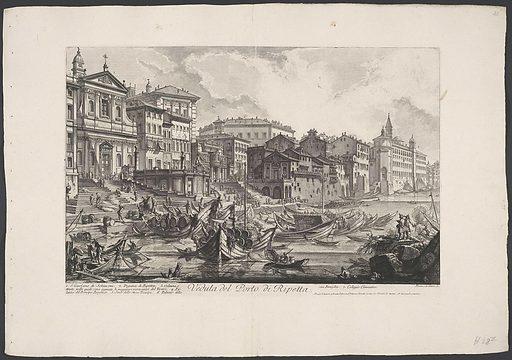 Porto di Ripetta in Rome. Origin: Rome. Date: 1748 – 1778. Object ID: RP-P-OB-39.324.
