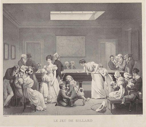 Company in a billiard room