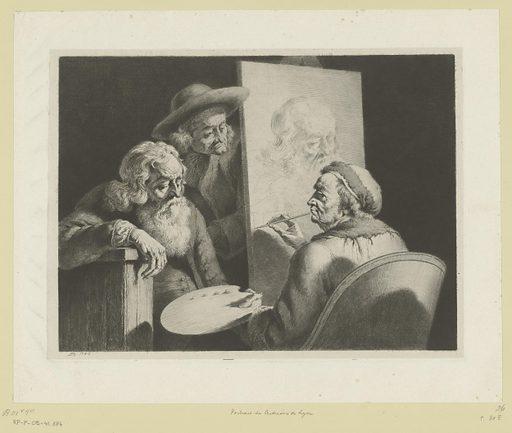 Painter portrays a centenarian from Lyon