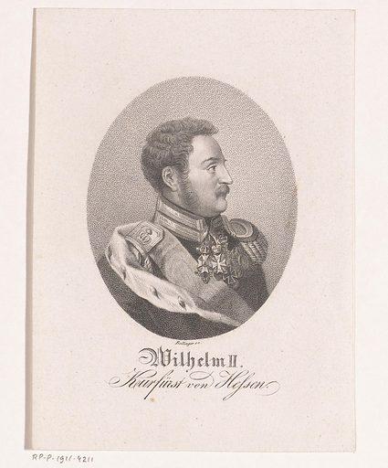 Portrait of Wilhelm II, Elector of Hesse-Kassel. Origin: Berlin. Date: 1821 – 1825. Object ID: RP-P-1911-4211.