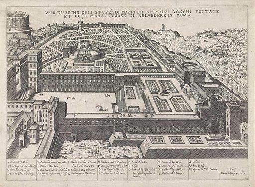 Cortile del Belvedere. Origin: Italy. Date: 1579. Object ID: RP-P-1966-461.