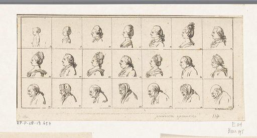 Twenty-one busts of men and women. Origin: Berlin. Date: 1774. Object ID: RP-P-OB-13.657.