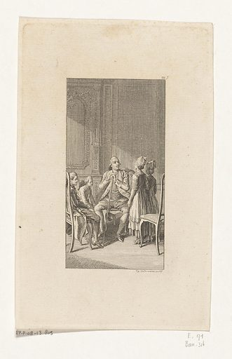 Uncle gives a riddle. Origin: Berlin. Date: 1776. Object ID: RP-P-OB-13.805.
