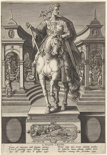 Julius Caesar on horseback