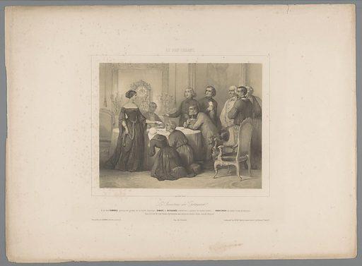 Hérodiade presents the will. Origin: Paris. Date: 1844. Object ID: RP-P-1905-1113.