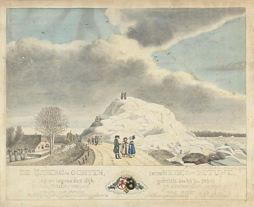 Iceberg at Ochten, January 24, 1789
