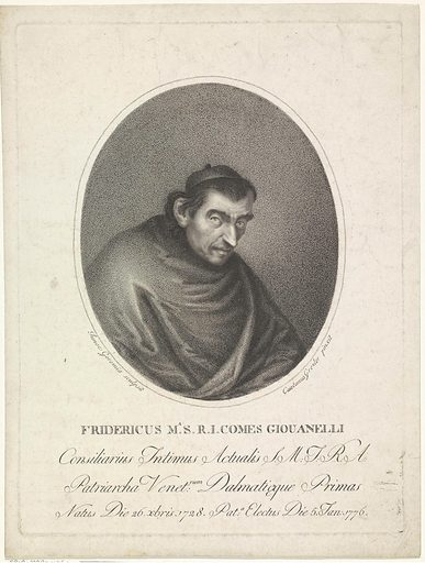 Portrait of cleric Federico Maria Giovanelli. Origin: Italy. Date: 1786 – 1836. Object ID: RP-P-1909-4960.