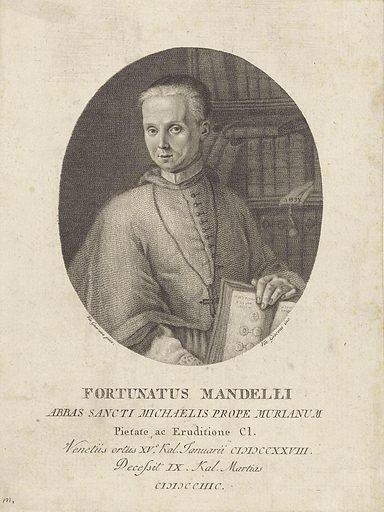Portrait of cleric Fortunatus Mandelli. Origin: Italy. Date: 1797 – 1829. Object ID: RP-P-1909-4963.