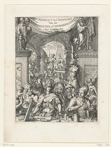 Title page of the Hieroglyphica. Origin: Netherlands. Date: 1655 – 1708. Object ID: RP-P-1952-363.