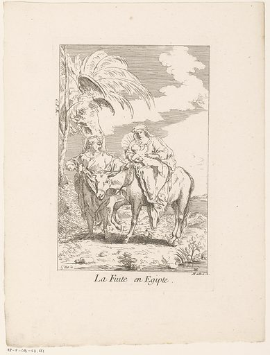 Flight to Egypt. Origin: Paris. Date: 1705 – in or before 1732. Object ID: RP-P-OB-43.661.