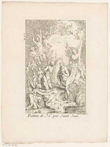 Baptism of Christ. Origin: Paris. Date: 1705 – in or before 1732. Object ID: RP-P-OB-43.663.