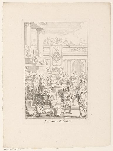 Wedding at Cana. Origin: Paris. Date: 1705 – in or before 1732. Object ID: RP-P-OB-43.665.