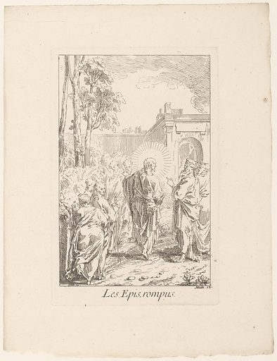 Picking corn on the Sabbath. Origin: Paris. Date: 1705 – in or before 1732. Object ID: RP-P-OB-43.674.