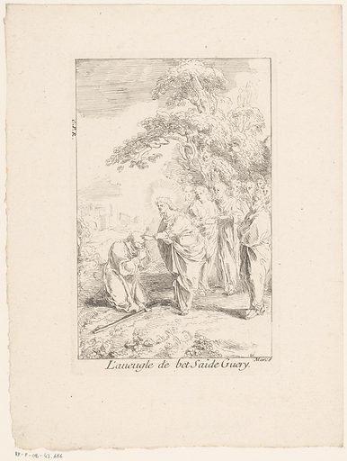 Christ heals the blind one of Bethsaida. Origin: Paris. Date: 1705 – in or before 1732. Object ID: RP-P-OB-43.686.