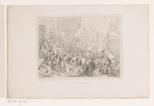 Defenestration of Leuven. Origin: Brussels. Date: 1836. Object ID: RP-P-OB-49.108.