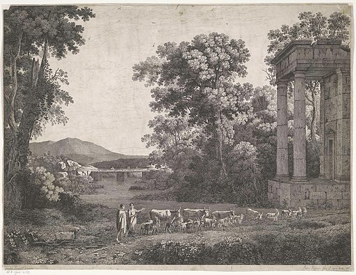Landscape with shepherds. Origin: Italy. Date: 1816. Object ID: RP-P-1944-2123.