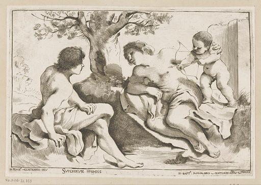 Venus and Adonis with Amor. Origin: Italy. Date: 1620. Object ID: RP-P-OB-36.733.