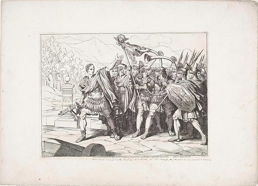 Julius Caesar and his army cross the Rubicon