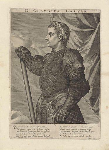 Portrait of Emperor Claudius. Origin: Venice. Date: 1624 – 1650. Object ID: RP-P-OB-5060.