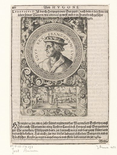 Portrait of Louis XI, king of France. Date: 1598. Object ID: RP-P-OB-54.397.