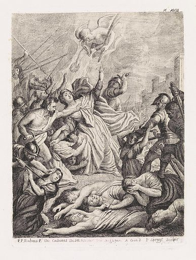 Martyrdom of St Ursula. Origin: Ghent. Date: 1747 – 1801. Object ID: RP-P-1889-A-14781.