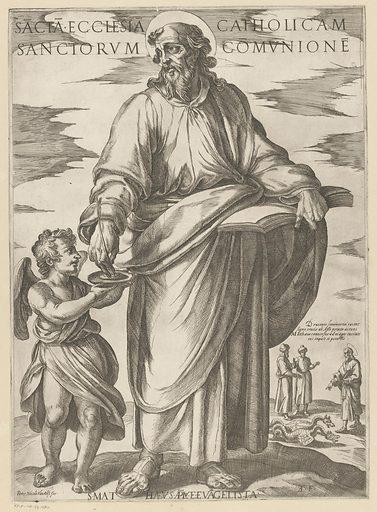 St Matthew. Origin: Italy. Date: 1565 – 1630. Object ID: RP-P-OB-37.480.